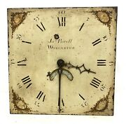 Antique Longcase Grandfather Clock Dial And 30 Hour Movement Powell Worcester