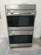 Stainless Steel Wolf 30 Double Electric Convection Wall Oven
