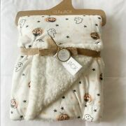 Lila And Jack Sherpa Baby Blanket Jack-o-lanterns And Ghosts Infant Fleece New
