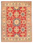Vintage Geometric Hand-knotted Carpet 5and0391 X 6and0399 Traditional Wool Area Rug