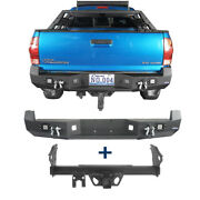 Black Rear Bumper + 2 Inch Towing Hitch Receiver Class 3 Fit Toyota Tacoma 05-15