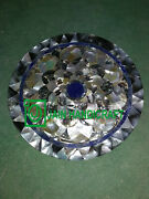 30and039and039 Round Marble Table Top Center Coffee Inlay Lapis Room Home Decor K10