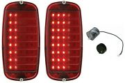 United Pacific 40 Led Sequential Tail Light Assembly Set 1960-66 Chevy/gmc Truck