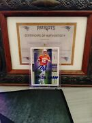 Tom Brady 2000 Upper Deck Victory Rookie Card 326 Signed With Coa