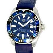 Tag Heuer Aqua Racer Caliber 5 43mm Stainless Steelxrubber Strap Blue Dial W...
