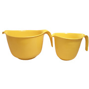 Vintage Rubbermaid Yellow 6 And 12 Cup Measuring Mixing Batter Bowl 2663 2661