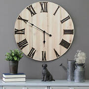 Stratton Home Decor Distressed Wood Wall Clock - Antique Bronze/distressed