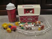 Vintage Fisher Price Little People Family Farm 2501 Silo Barn Animals Complete