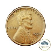 1926-s Lincoln Wheat Cent Choice Au Almost Unc Red Brown Strong Wheat