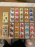 Lot Of 30 Vintage Puzzle Pairs Stickers With Two Fantasies Birthday Stickers.