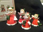 Vermont Country Store Napco Imports Noel Angel Christmas Bell Figurines