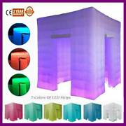 8.2feet Photo Booth Inflatable Led Phototent Birthday Party 2 Door With Remote