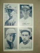 1929 4-on-1 Baseball Exhibit Card - St. Louis - Clift West Andrews And Hemsley