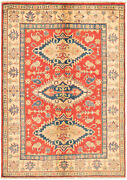Vintage Geometric Hand-knotted Carpet 4and03911 X 6and03911 Traditional Wool Area Rug