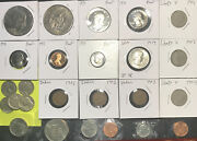 G23 - 25 Coin Lot/ Halfs/ Proof/ Mint/ Bu Mix Receive Exact Coins In Pics
