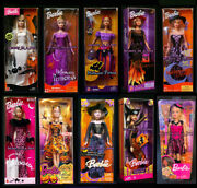 Boo-tiful Barbie Doll Halloween Princess Fortune Teller Glow Trick Or Chic Lot