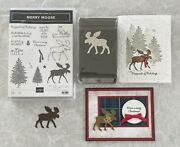 Stampin Up Merry Moose Stamp Set + Moose Punch Christmas Hunting Gift Sentiments