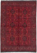 Hand-knotted Carpet 4and03911 X 6and03911 Traditional Oriental Wool Area Rug