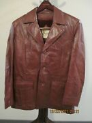 Vintage Bermanand039s Lamb Leather Brown Jacket Removable Lining Buttons Sz 42 Korea
