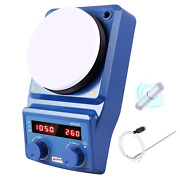 Led Digital Magnetic Hotplate Stirrer - Four E's Lab Hot Plate With Stir Bar And T