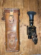 Wwi Us Sniper Scope With Trench Customized German Style Post Receptacle - Wow
