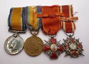 Ww1 Russia Order Of Saint Stanislaus And Anna Miniature Medal Group Of 4