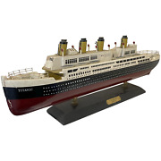 Spectacular 20th Century Iconic Titanic Maritime Wooden Display Model Ship