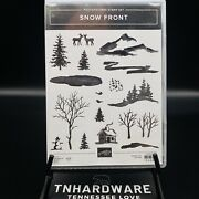 Snow Front Stamp Set Stampin Up Mountains Lake Snowman Cabin Scenic Trees