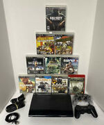 Ssd Wow 500 Gb Solid State Playstation 3 Ps3 Super Slim Console Bundle Lot