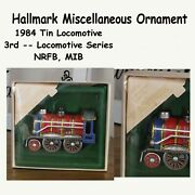13 Hallmark Pressed Tin Ornaments, Lunchboxes, Houses, Buildings, Train