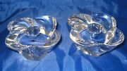 Pair Of Bayel Crystal Taper Candle Holders