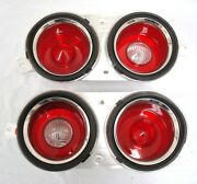 1970 1971 1972 1973 Camaro Tail And Back-up Lamp Light Housing Taillights Set Pair