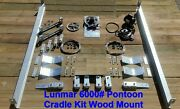 Lunmar Boat Lifts 6000 Pontoon Cradle Kit Wood Mount