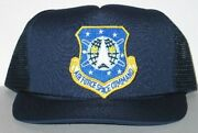 Stargate Sg-1 Space Command Logo Patch On A Blue Baseball Cap Hat New