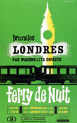3747.french Overnight Ferry De Nuit Poster.train Wall Art.home Interior Design