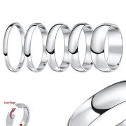 18ct White Gold Ring Extra Heavy Weight Court Wedding Ring Band Solid Hallmarked