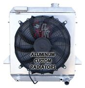 1975-1976 Triumph Tr6 Aluminum Radiator Made In Usa With A 16 Fan And Shroud