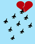 1844 Planes Flying Straight To Heart Quality Poster.animated Decorative Art.