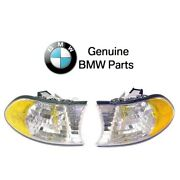 For Bmw E38 740i 740il 750il Set Of Front Left+right Turn Signal Lights Genuine