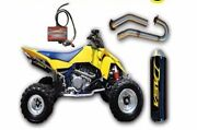 Dasa Classic Full Exhaust System Pipe And Power Commander Pc5 Suzuki Ltr450 Yellow