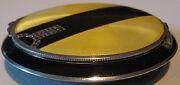 K And A Vintage Art Deco Sterling Silver Yellow And Black Enamel Marcasite Compact