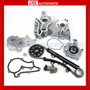 For 83-84 Toyota 2.4l Celica Pick-up New Timing Cover Chain Water And Oil Pump Kit
