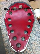 Rich Phillips Leather Solo Motorcycle Seat Sportster Harley Chopper Bobber Swiss