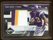 Percy Harvin 2009 Limited Rc Auto Jumbo Patch /25 3 Color Vikings Superstar