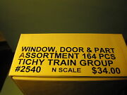 2540 Tichy Group Window, Door, And Parts Assortment 164 Pcs N Scale