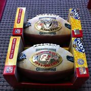 Super Bowl 37 Nfl Footballs- Fluke Raiders Ball Only 12 Known To Exist
