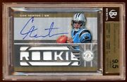 Pop 1 Cam Newton Bgs 9.5 10 Gold Rc Auto /25 Totally Certified 3 Crl Jumbo Patch