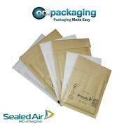 Mail Lite Padded Post Bags / Envelopes - All Sizes White And Gold - Genuine Brand