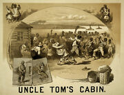 5849.uncleand039s Tom Cabin Poster.decoration Home Room Interior Design Wall Art