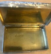 Beautiful 1822 Georgian Antique Fully Hallmarked Silver And Gold Gilded Snuff Box